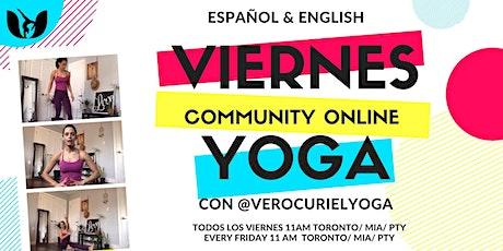 Friday Community Online Yoga Class entradas