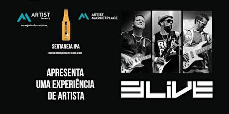 Uma experiência de artista de rock eletrônico com 3 Live Music ingressos