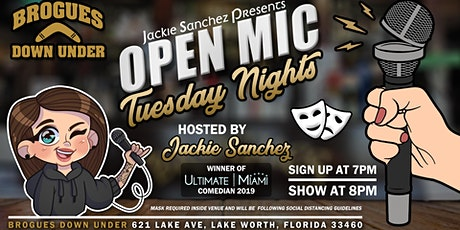 Jackie Sanchez Presents - Comedy Open Mic - Tuesday Nights tickets