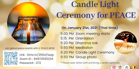The 4th Candle Light Ceremony for Peace (Zoom) tickets