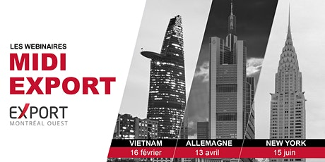 Webinaire Midi Export  : Exportez du Québec à New York ! biglietti