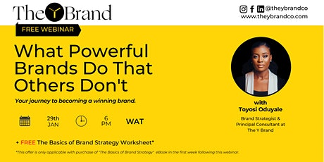 Webinar: What Powerful Brands Do that Others Don't tickets
