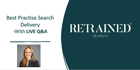Best Practice Search Delivery - With LIVE Q&A tickets