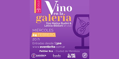 Ciclo VINO EN LA GALERÍA (24-02) entradas