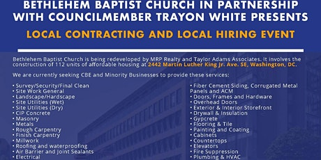Bethlehem Baptist Church Construction - LOCAL CONTRACTING AND HIRING EVENT tickets