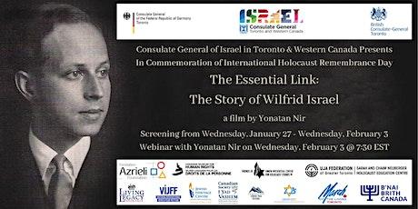 The Essential Link: Webinar with Filmmaker Yonatan Nir tickets