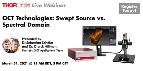 OCT Technologies: Swept Source vs Spectral Domain tickets