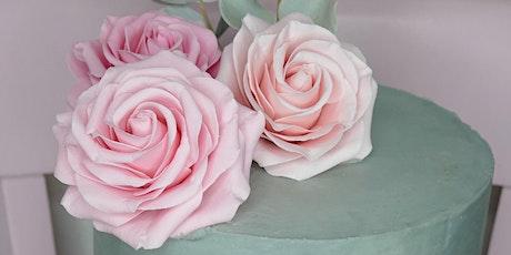 Curso de Rosas comestíveis bilhetes