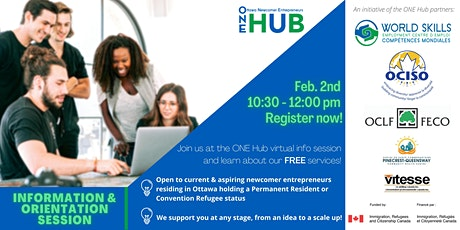 ONE Hub Information & Orientation Session tickets