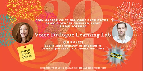 *FREE* 3rd Thursdays Voice Dialogue Learning Lab @ 8 PM (ET) tickets