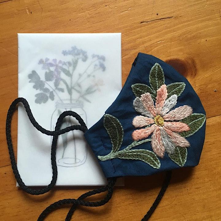 Embroidered mask online workshop image