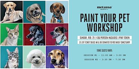 Paint Your Pet Workshop tickets