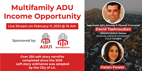 Multifamily ADU Income Opportunity tickets