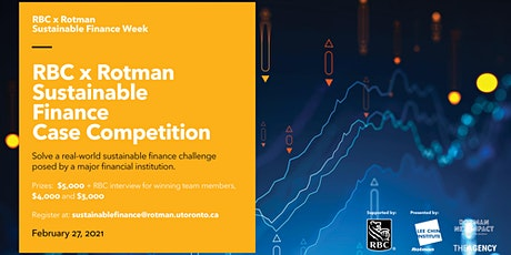 RBC x Rotman Sustainable Finance Case Competition tickets