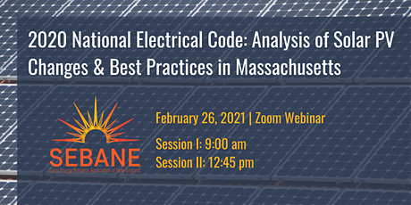 NEC 2020: Analysis of Solar PV Changes and Best Practices in Massachusetts tickets