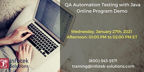 IT Job Oriented QA Selenium Automation Testing with Java Training Program tickets