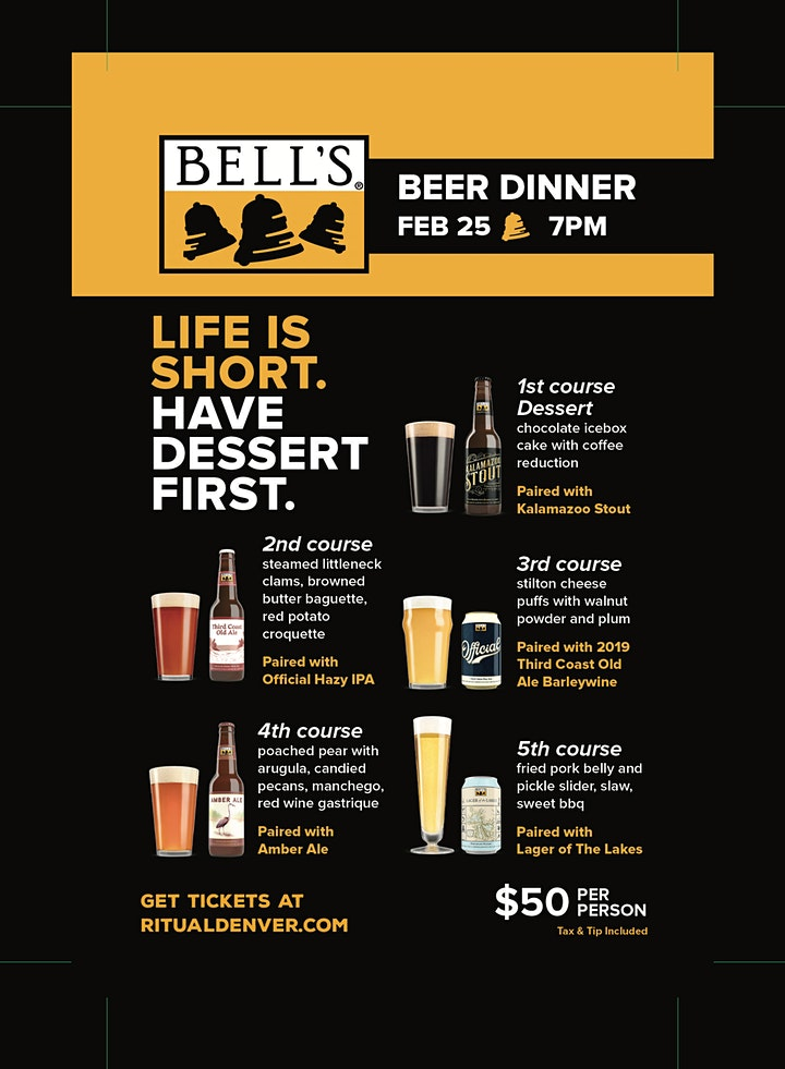 Bells Brewery Beer Dinner February 25th 7pm image