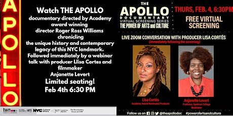 The Apollo - documentary screening and talk tickets