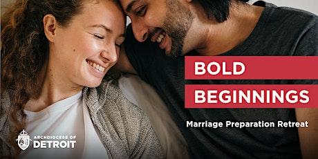 Bold Beginnings Marriage Preparation Retreat – October tickets