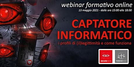 Corso Formativo online CAPTATORE INFORMATICO biglietti