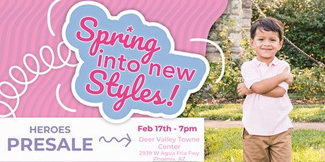 Kid's Closet -Northwest Phoenix- 7pm HEROES Pre-sale - Feb 17th tickets