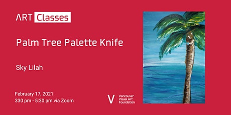 Palm Tree Palette Knife Art Class tickets