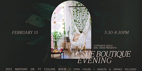 Citipointe Girl Crew Presents - SHE Boutique Evening tickets