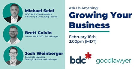 Ask Us Anything: Growing Your Business with BDC & Goodlawyer tickets