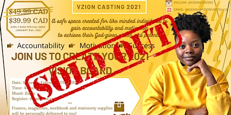 Vzion Casting Vision Board 2021 tickets