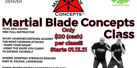 Martial Blade Concepts Class tickets