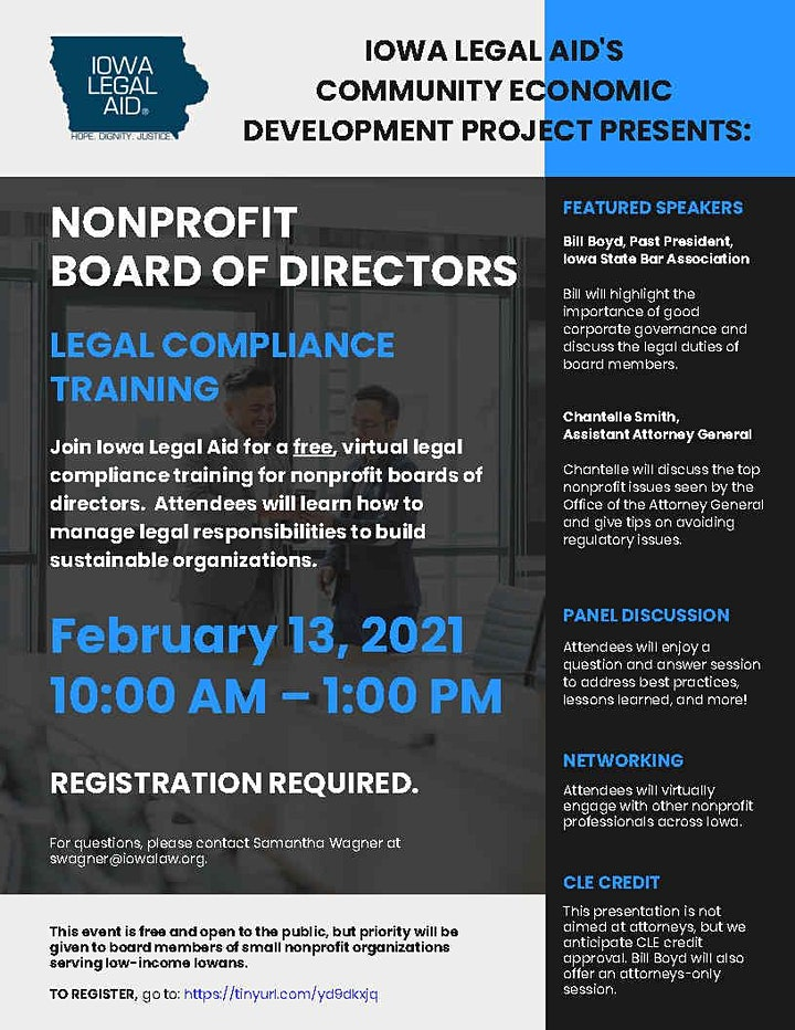 2021 Nonprofit Board of Directors Legal Compliance Training image