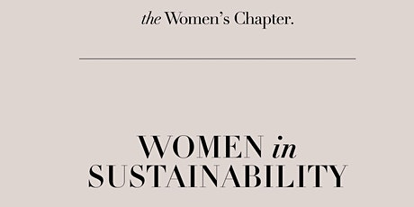 Women in Sustainability Virtual Panel Discussion tickets