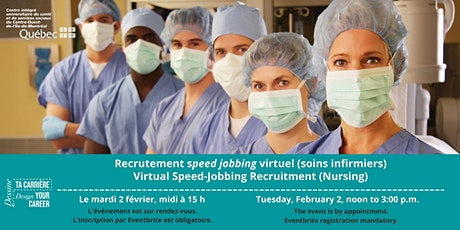 Speed jobbing: recrutement virtuel en soins infirmiers tickets