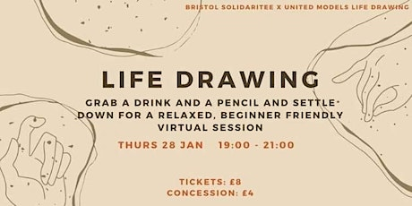 Bristol SolidariTee Life Drawing Fundraiser tickets