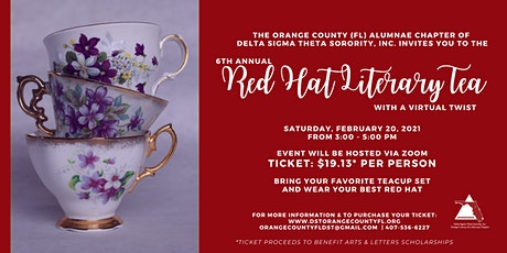 6th Annual Red Hat Literary Tea - With A Virtual Twist tickets