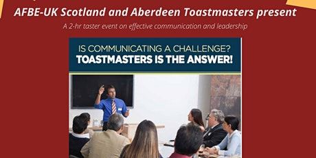 Toastmaster Taster event on effective communication and leadership tickets