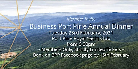 Business Port Pirie Annual Dinner tickets