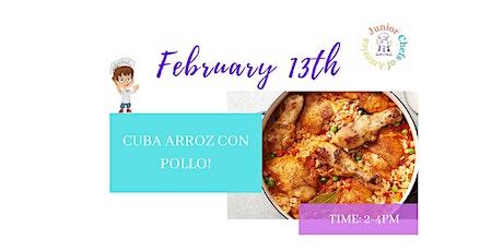 Kids (4-12) In-Person Cooking Class - Cuba Arroz Con Pollo  - PM tickets