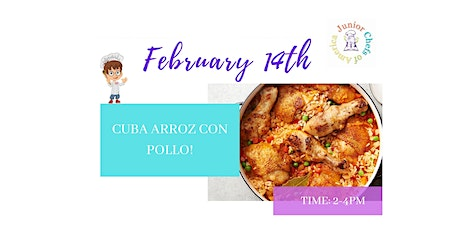 TEENS (13-17)  Online Cooking Class - Cuba Arroz Con Pollo -PM tickets