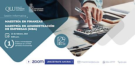 Sesión Informativa - Maestrías en convenio con la Universidad de chile entradas
