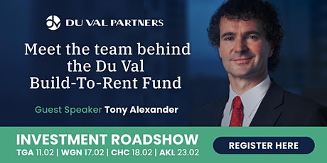 AUCKLAND: The Du Val Build To Rent Investment Roadshow tickets