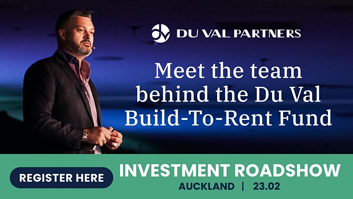 AUCKLAND: The Du Val Build To Rent Investment Roadshow image
