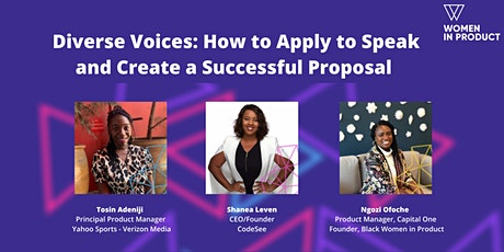 Diverse Voices: How to Apply to Speak and Create a Successful Proposal tickets