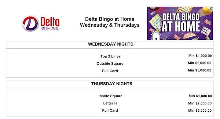 Delta Bingo at Home - January 27 image