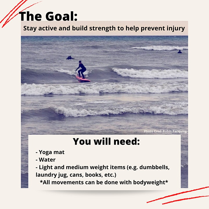 Surf Workout in Support of Red Door Family Shelter image