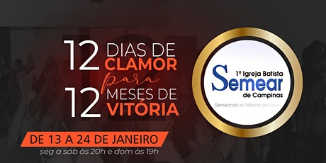 12 Dia de Clamor para 12 Meses de Vitória | @ibsemearcampinas ingressos