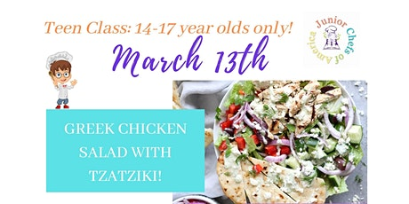 Teen (13-17) In-Person Cooking Class - Greek Chicken Salad with Tzatziki tickets