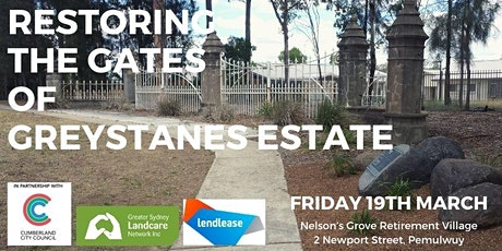 Restoring the Gates of Greystanes Estate tickets