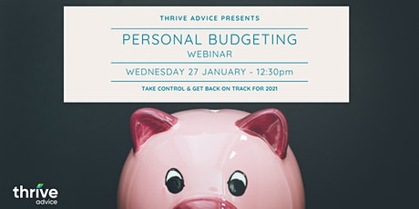 Personal Budgeting Webinar tickets
