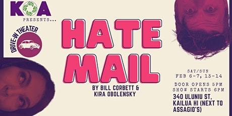 HATE MAIL, a comedy by Bill Corbett and Kira Obolensky tickets